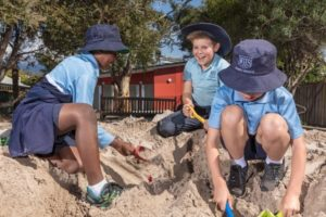 kids playing in sandpit